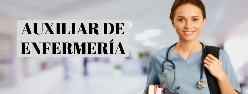 AUXILIAR DE ENFERMERÍA, DOMICILIARIA Y GERONTOLÓGICA